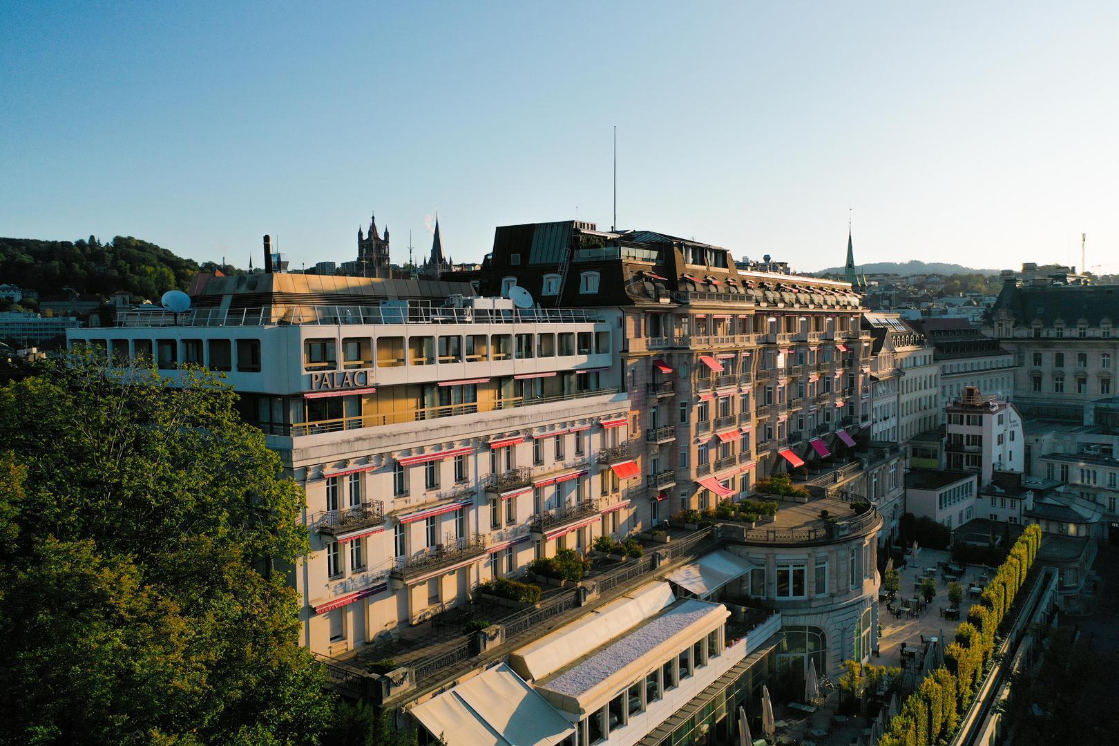 Lausanne Palace vue de haut